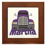 Trucker Martha Framed Tile