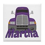 Trucker Martha Tile Coaster