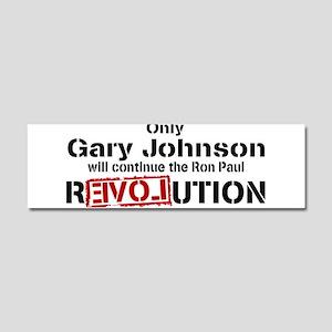 Gary Johnson Car Magnet 10 x 3