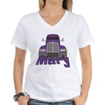 Trucker Mary Women's V-Neck T-Shirt