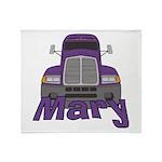 Trucker Mary Throw Blanket