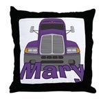 Trucker Mary Throw Pillow