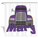 Trucker Mary Shower Curtain