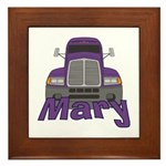 Trucker Mary Framed Tile