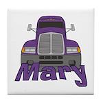 Trucker Mary Tile Coaster