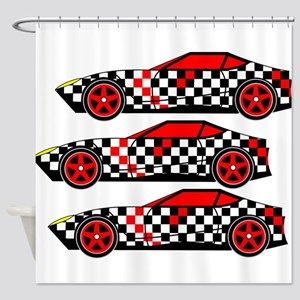 Chess Cars - Virtual Cars Shower Curtain