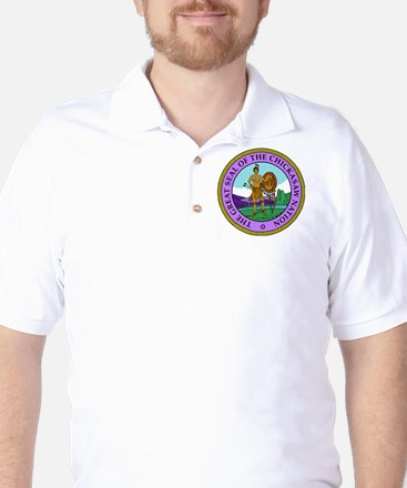 The Great Seal of the Chickasaw Nation Golf Shirt