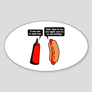 Meat Ketchup Sticker (Oval)