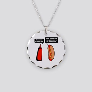 Meat Ketchup Necklace Circle Charm