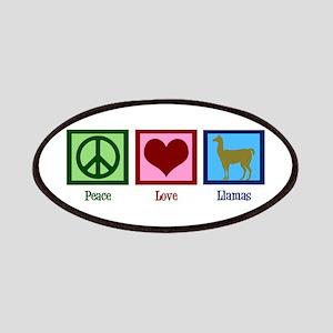 Peace Love Llamas Patches