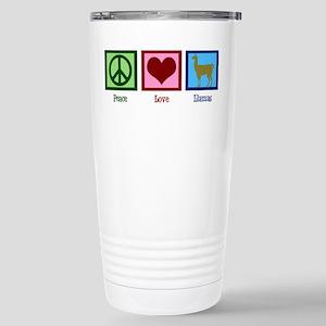 Peace Love Llamas Stainless Steel Travel Mug