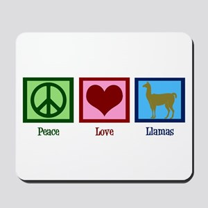 Peace Love Llamas Mousepad