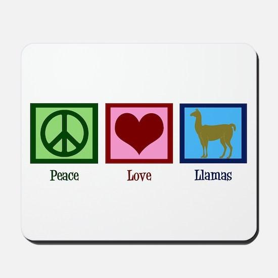 Peace Love Llamas Mousepad