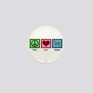 Peace Love Llamas Mini Button