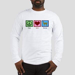 Peace Love Llamas Long Sleeve T-Shirt