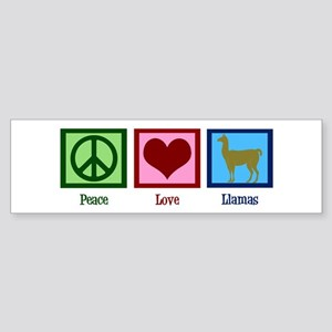 Peace Love Llamas Sticker (Bumper)