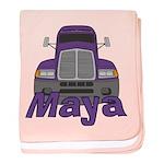 Trucker Maya baby blanket