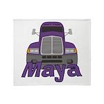 Trucker Maya Throw Blanket