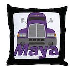 Trucker Maya Throw Pillow