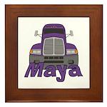 Trucker Maya Framed Tile