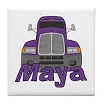 Trucker Maya Tile Coaster
