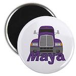 Trucker Maya Magnet