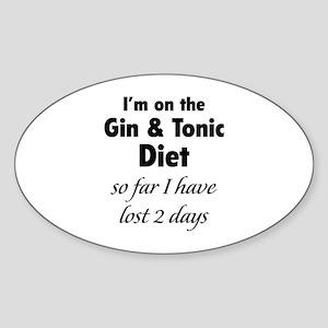Gin & Tonic Diet Sticker (Oval)