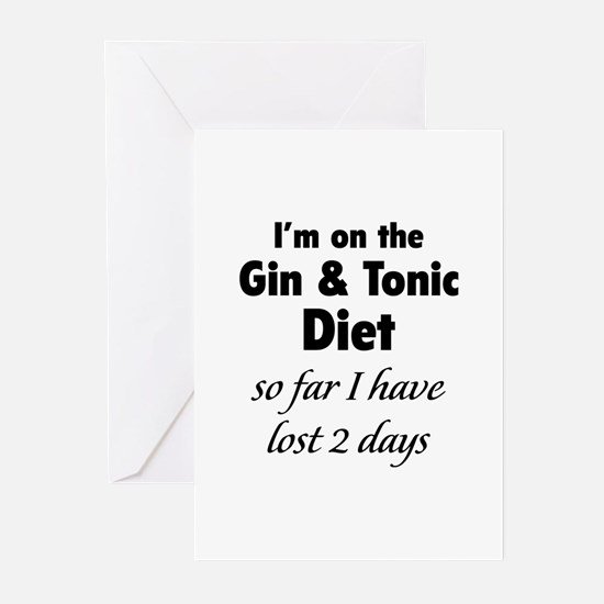 Gin & Tonic Diet Greeting Cards (Pk of 10)