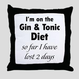 Gin & Tonic Diet Throw Pillow