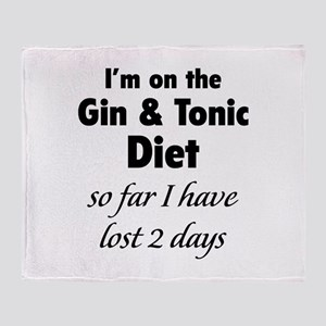 Gin & Tonic Diet Throw Blanket