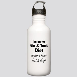 Gin & Tonic Diet Stainless Water Bottle 1.0L