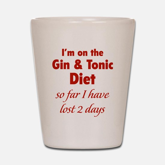 Gin & Tonic Diet Shot Glass