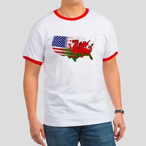 American Welsh Map Ringer T