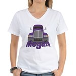 Trucker Megan Women's V-Neck T-Shirt