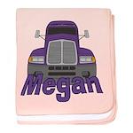 Trucker Megan baby blanket