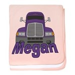 Trucker Megan baby blanket