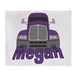 Trucker Megan Throw Blanket