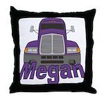 Trucker Megan Throw Pillow