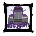 Trucker Megan Throw Pillow