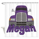 Trucker Megan Shower Curtain