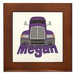 Trucker Megan Framed Tile