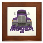 Trucker Megan Framed Tile
