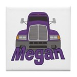 Trucker Megan Tile Coaster