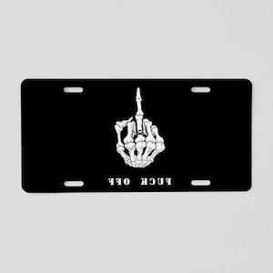 F O Finger Aluminum License Plate
