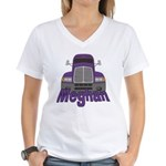 Trucker Meghan Women's V-Neck T-Shirt