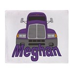 Trucker Meghan Throw Blanket