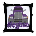 Trucker Meghan Throw Pillow