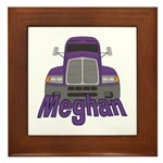 Trucker Meghan Framed Tile