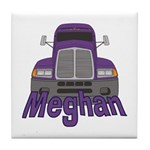 Trucker Meghan Tile Coaster