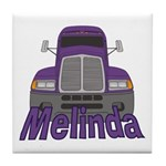Trucker Melinda Tile Coaster